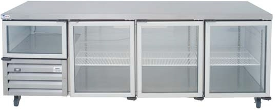 gd8sc-&ndash-3&frac12-glass-door-ststeel-underbar-fridge-2380mm