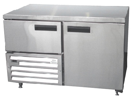 qub4sc-&ndash-1&frac12-door-ststeel-underbar-fridge-1180mm