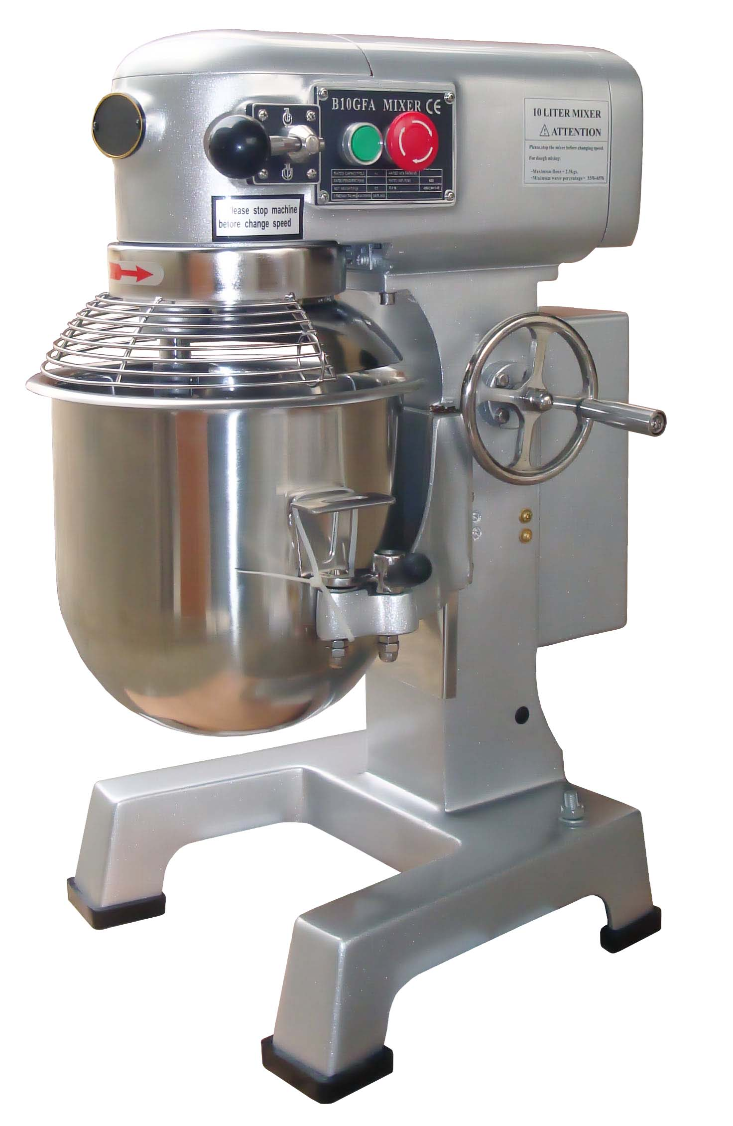 pmk5010--ankor-planetary-mixer--10lt-no-hubwith-safety-guard