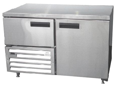 qub4sc-&ndash-1&frac12-door-ststeel-underbar-fridge-1180mm