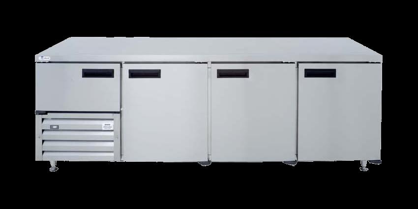qub8sc-&ndash-3&frac12-door-ststeel-underbar-fridge-2380mm